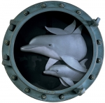 DOLPHIN AND BABY PORTHOLE